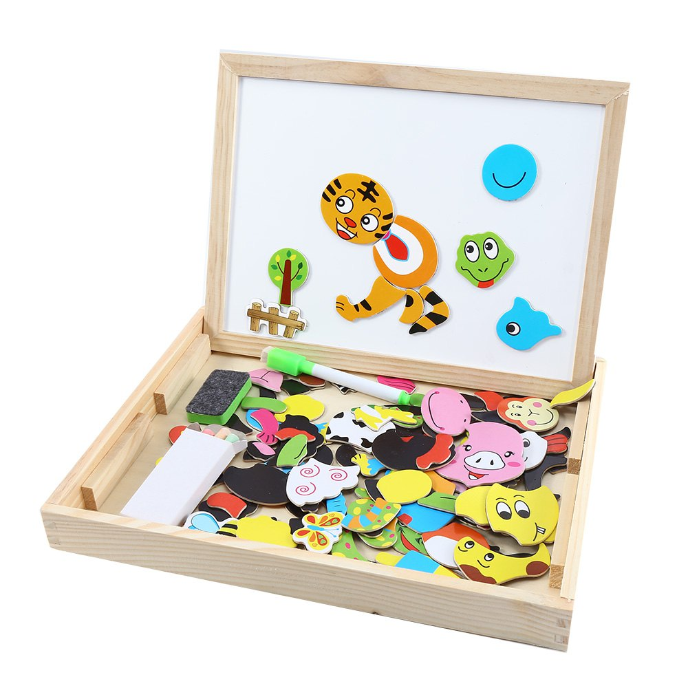 Muwanzi Wooden Puzzle Multifunctional Drawing Board Intelligence Game Toys for Children dayan gem vi cube speed puzzle magic cubes educational game toys gift for children kids grownups