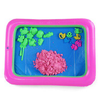 Chromatic Flower Mold Space Sand Toy for Children