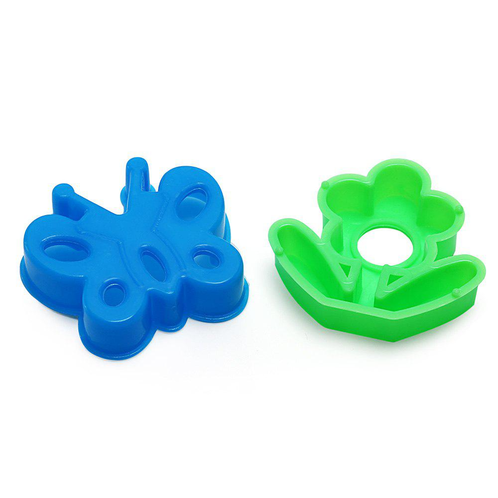 Chromatic Flower Mold Space Sand Toy for Children - BLUE