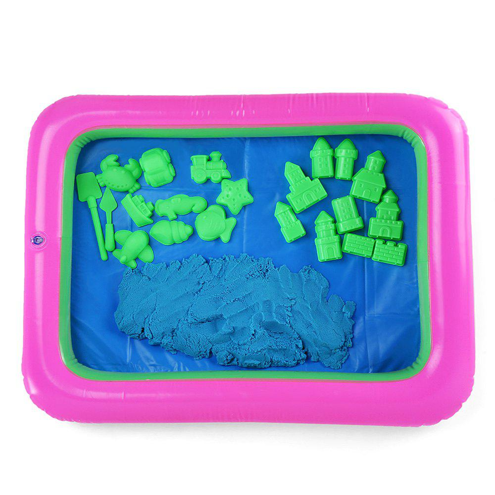 Princess Castle Mold Space Sand Toy pour enfants - Bleu