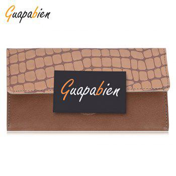 Guapabien Multi-card Leather Folder Old Classical Style Women Wallet - KHAKI KHAKI
