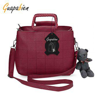 Guapabien Brief Plaid Solid Color Women Tote Bag
