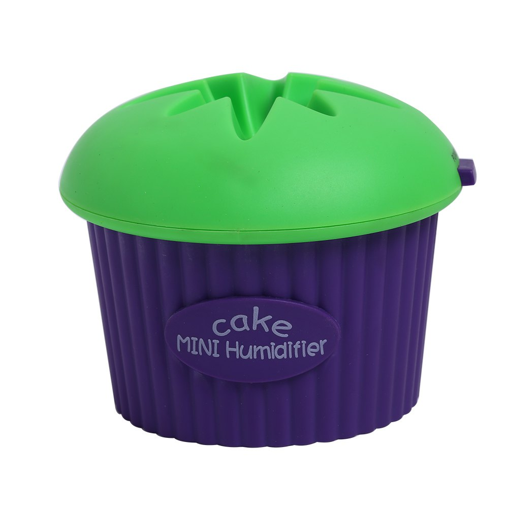 200ml Ultrasonic USB Cool Mist Mini Cupcake Shape Humidifier - Vert