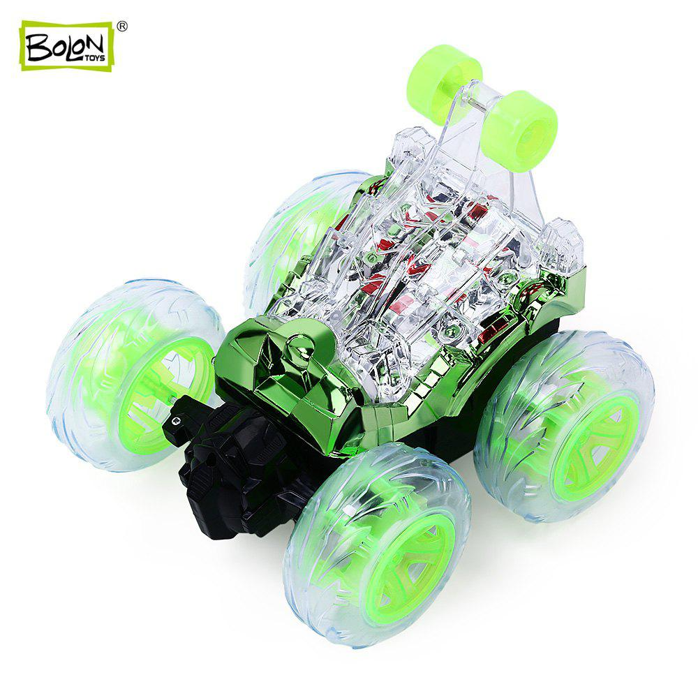 BOLON TOYS Colorful Lights Musical Remote Control Stunt Car - Vert