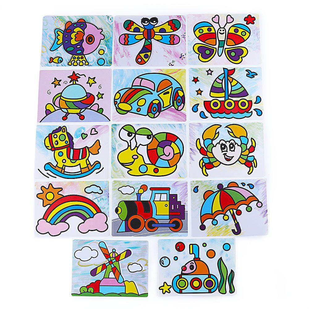 Sand Painting Handmade DIY Toy for Children graffiti painting educational diy toy for children