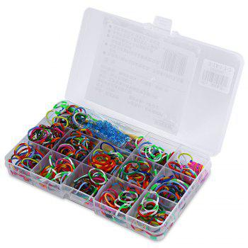 Colorful Rubber Loom Band Kit DIY Toy for Children