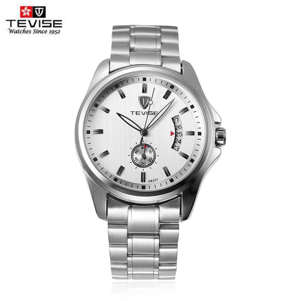 TEVISE 8377G Male Auto Mechanical Watch Date Chronograph Display Stainless Steel Band Wristwatch angie st7194 fearless series male auto mechanical watch