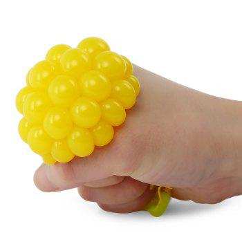 Grape Vent Ball Stress Relief Squeezing Toy - Jaune