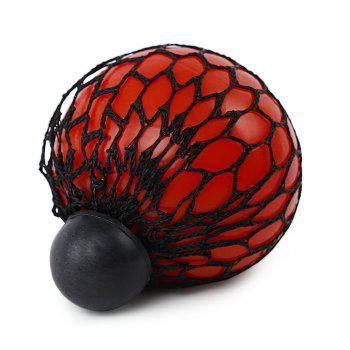 Mesh Grape Vent Ball Stress Relief Squeezing Toy - RED