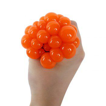 Mesh Grape Vent Ball Stress Relief Squeezing Toy - ORANGE