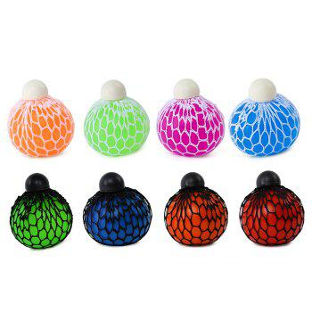 Mesh Grape Vent Ball Stress Relief Squeezing Toy - GREEN