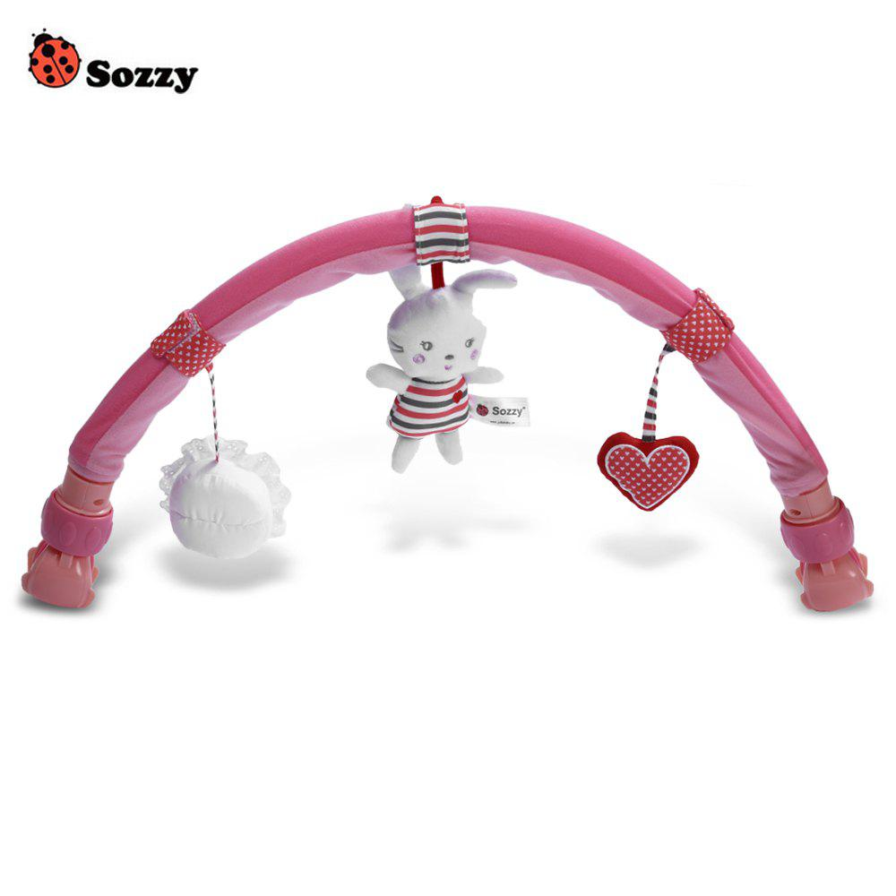 Sozzy Rabbit Shape Strollers Clip Seat Activity Bar - PINK