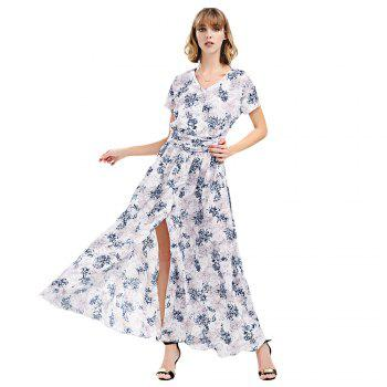Short Sleeve Maxi Long Flowy Tea Dress
