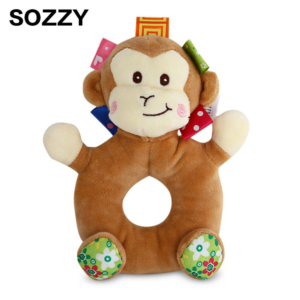 Sozzy Cartoon Animal Baby Handbell Toy - multicolorcolore MONKEY