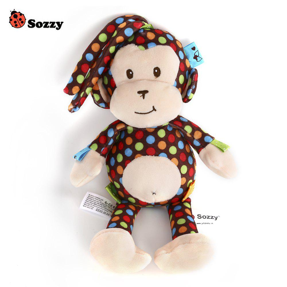 Sozzy Cute Monkey Design Bell Pull Stretch Toy - BROWN