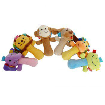 Sozzy Cartoon Plush Baby Handbell Toy - multicolorcolore MONKEY