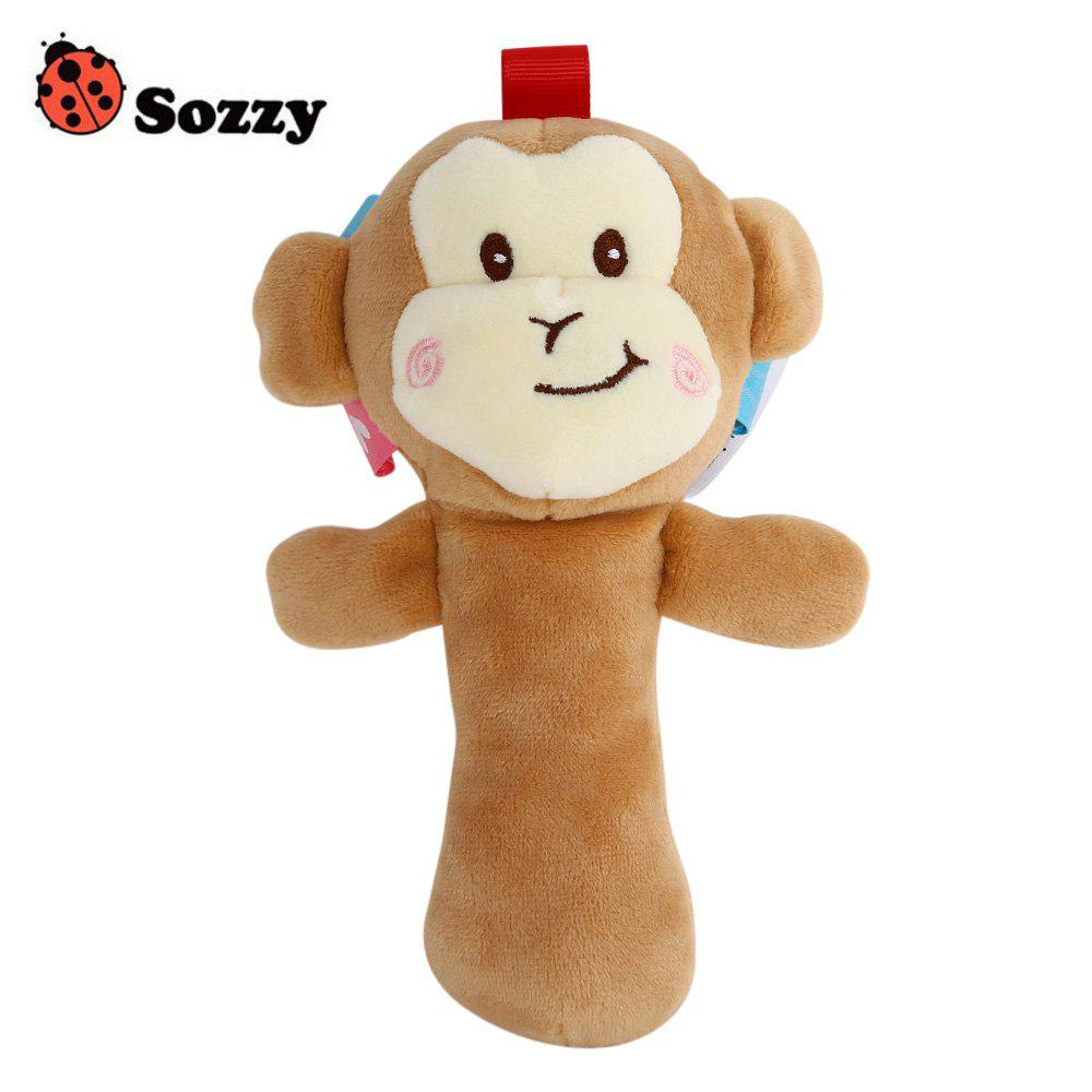 Sozzy Cartoon Plush Baby Handbell Toy - multicolore MONKEY