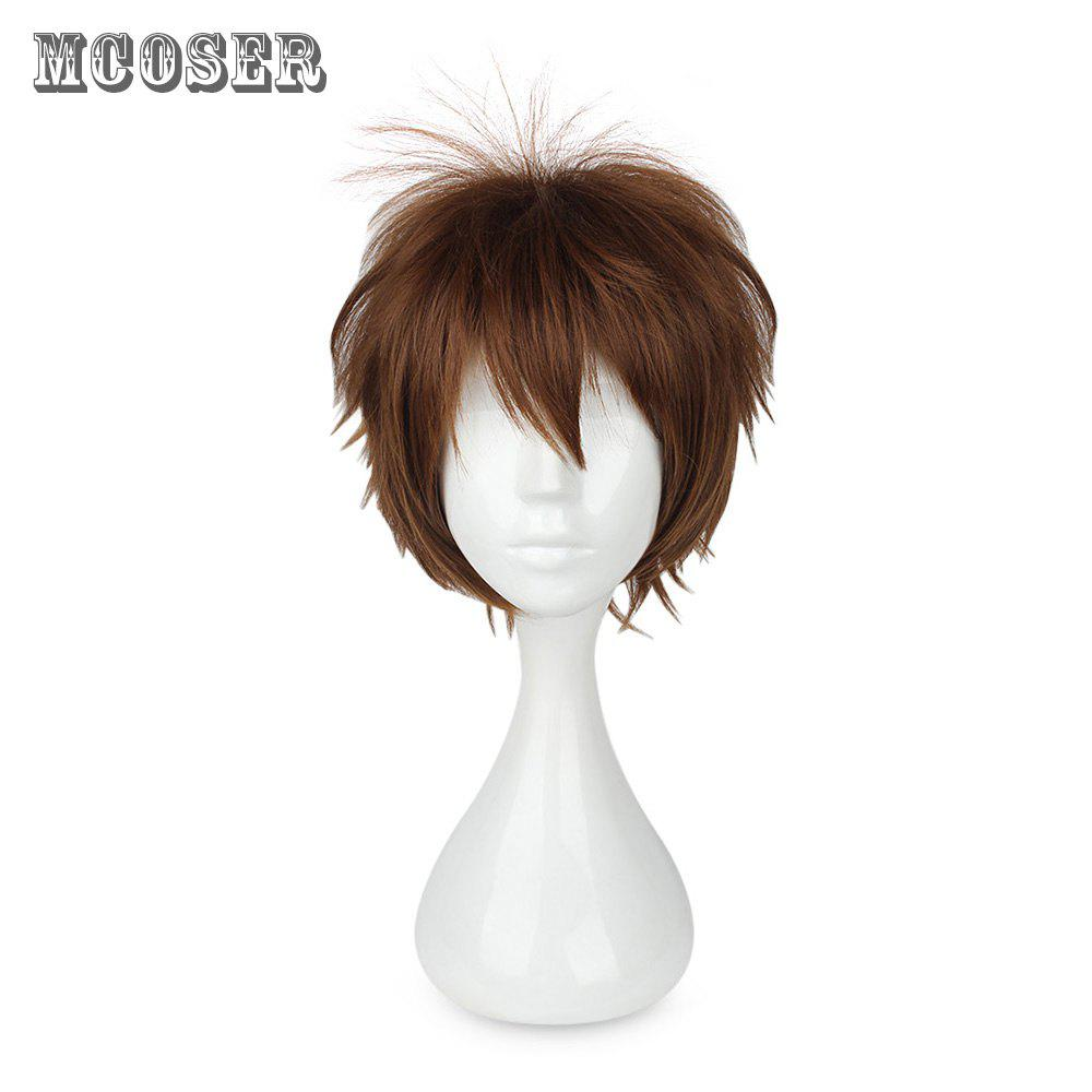 Mcoser High Temperature Short Straight Layered Wig Cosplay for EnsembleStars - BROWN