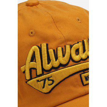 Casual Letter Print Hip-hop Sun Protection Baseball Hat for Unisex - YELLOW