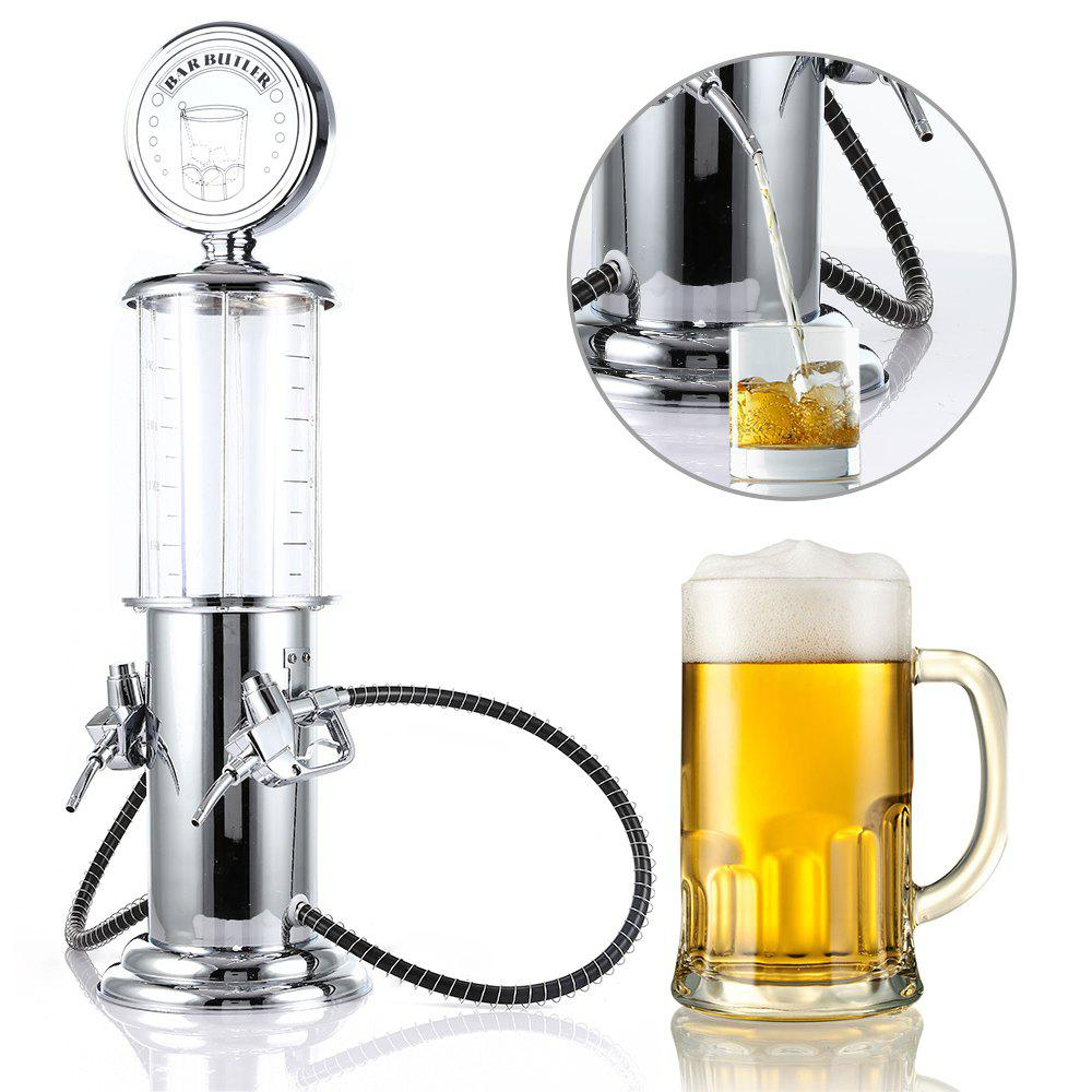 Transparent Layer Design Double Gun Beer Dispenser Machine Liquor Pump Drinking Vessels - CLEAR WHITE