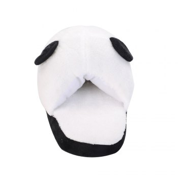 Cute Panda Home Slippers Winter Coral Velvet Upper Anti-skip Outsole - BLACK WHITE BLACK WHITE