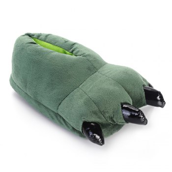 Tiger Dinosaur Claw Cartoon Warm Home Slippers - GREEN ONE SIZE(35-40)