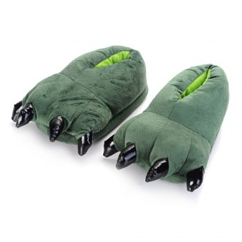 Tiger Dinosaur Claw Cartoon Warm Home Slippers - ONE SIZE(35-40) ONE SIZE(35-40)