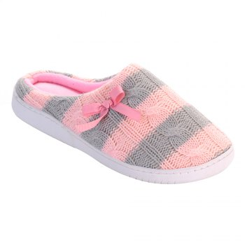 Ladies Cashmere Cotton Knitted Anti-slip House Slippers - ONE SIZE(35-40) ONE SIZE(35-40)