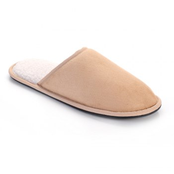 Men Mirco Fabric House Slippers Lining TPR Outsole - 41 41