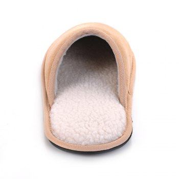 Men Mirco Fabric House Slippers Lining TPR Outsole - CAPPUCCINO CAPPUCCINO