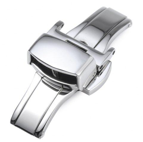 12MM Stainless Steel Watch Buckle Deployment Butterfly Clasp - SILVER 12MM