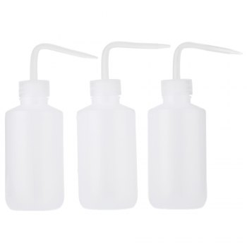 3pcs 250ml Non-Spray Tattoo Diffuser Green Soap Supply Wash Squeeze Bottle Lab - WHITE