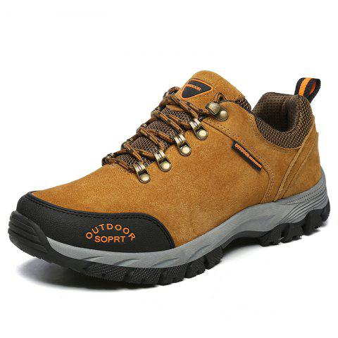 Men Big Size Outdoor Sports Shoes - BROWN 40