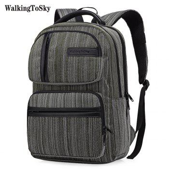 WalkingToSky Brand Backpacks for Men Women School Bag 15.6 Inch Computer Classic Business Bags Travel College - GRAY GRAY