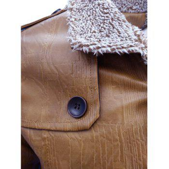 Men'S Wear in Autumn and Winter and Fur Coats of Men'S Fashion and Leisure - BROWN BROWN