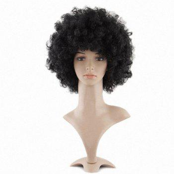 Mannequin Head African American Afro Hair with Manikin for Practice Styling Braiding - BLACK BLACK