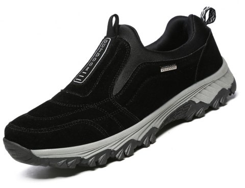 Male Fashion Breathable Outdoor Sneakers - BLACK 40