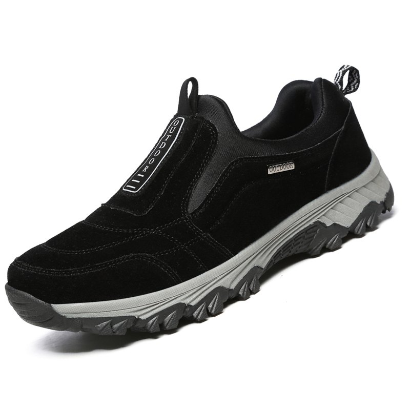 Male Fashion Breathable Outdoor Sneakers - BLACK 39