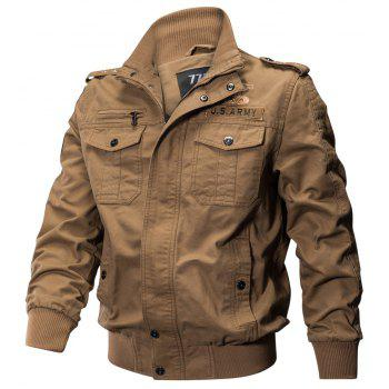 Military Equipment Multi Pockets Cotton Coat