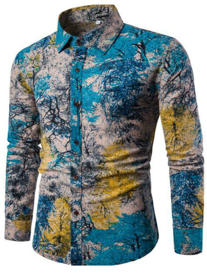 New Style Men'S Classic Color Printing and Long Sleeved ShirtCS06