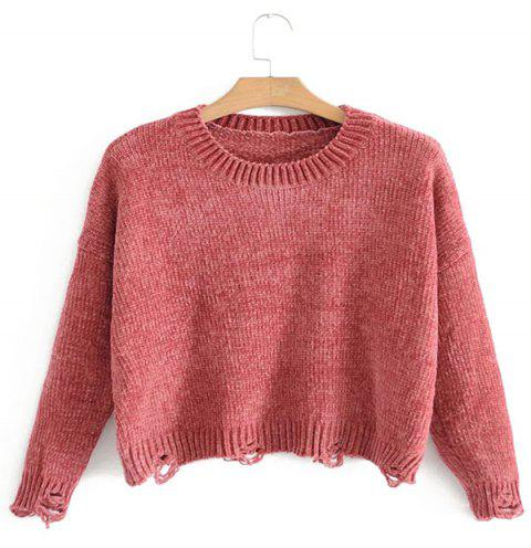 The New 2017 Lady Chenille Is Wearing A Worn-Out Sweater - RED ONE SIZE