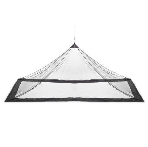 Outdoor Compact Lightweight Tent Mosquito Net Canopy for Single Camping Bed - BLACK