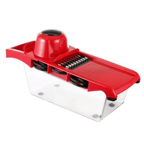 ZS - 8983 Multifunctional Potato Slicer Vegetable Fruit Cutter Kitchen Magic Tool - RED