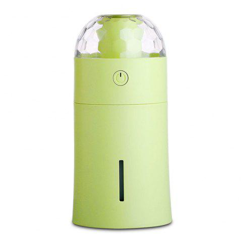 USB Mini 170ml Diffuser Humidifier with Colorful Projector Night Lamp for Baby Bedroom Office Home - GREEN
