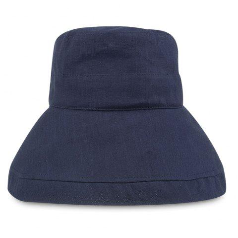 YF013 Pure Cotton Flat Top Fisherman Bucket Hat - DEEP BLUE
