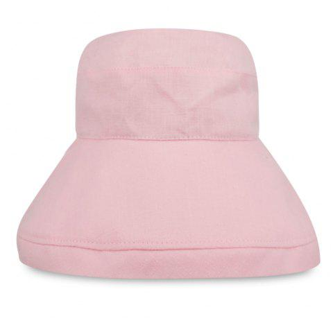 YF013 Pure Cotton Flat Top Fisherman Bucket Hat - PINK