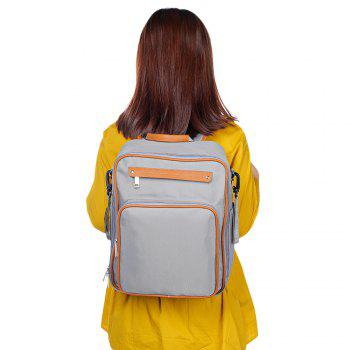 Fashion Mummy Minimalist Large Capacity Bag Travel Backpack Designer Nursing for Baby Care - GRAY