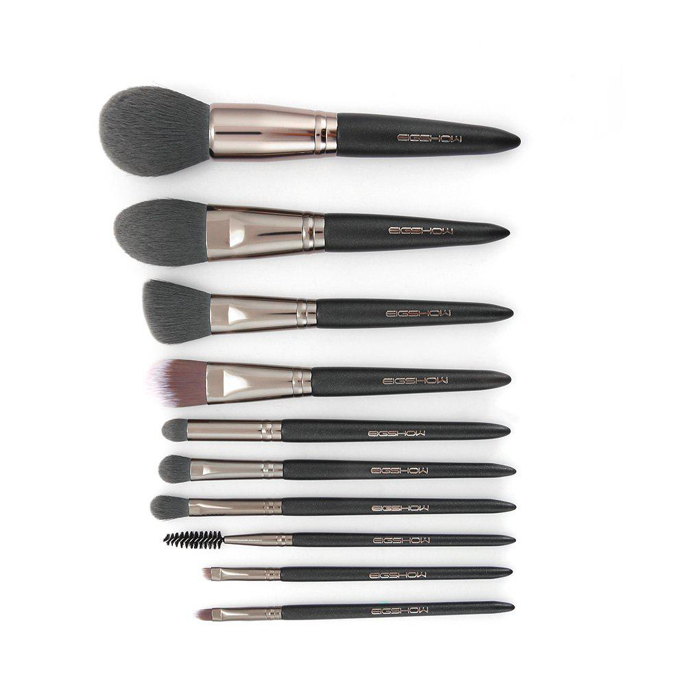 EIGSHOW Makeup Brushes Cosmetic Kit for Foundation Powder Eyebrow Eyeshadow Lip 10PCS / Set gujhui 15pcs wooden foundation makeup brushes sets