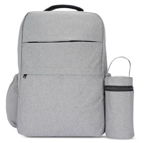 New Style Fashionable Western Large Multi-function Water-resistant Backpack Changing Bag - ASH GRAY