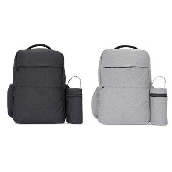 New Style Fashionable Western Large Multi-function Water-resistant Backpack Changing Bag - BLACK